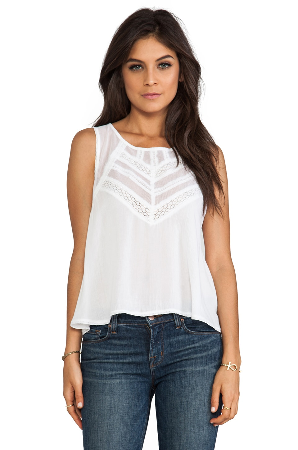 Free People Shellshock Top in White