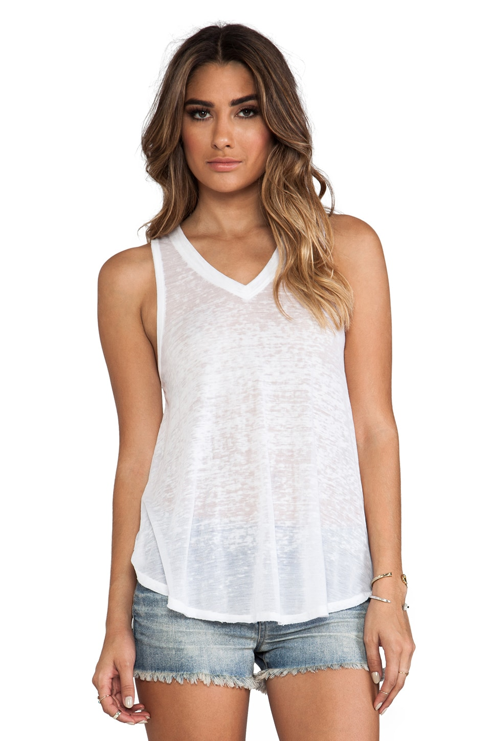 Free People Breezy Tank in White