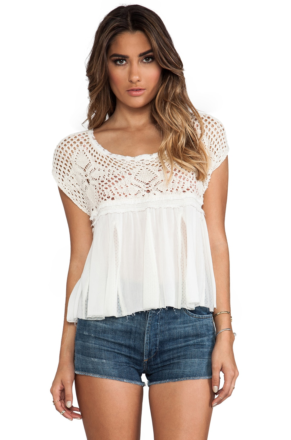 Free People Arya Top in Tea Combo