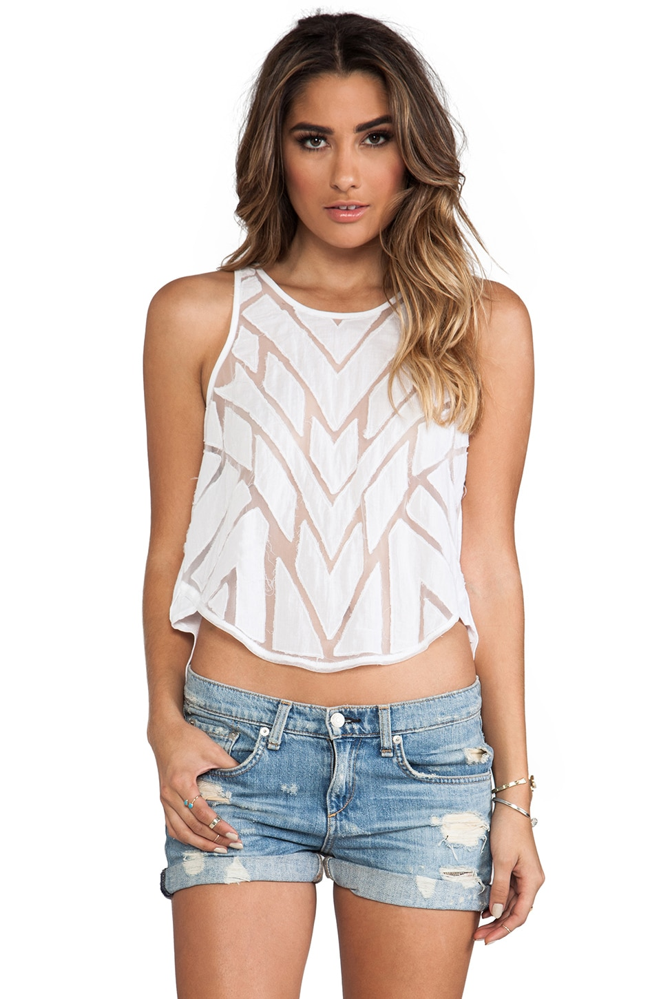 Free People Ginger Top in White