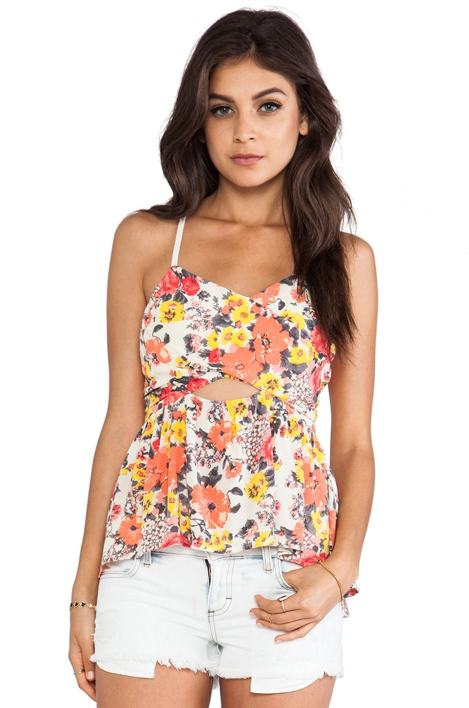 Free People Some Like it Hot Top in Swam Combo