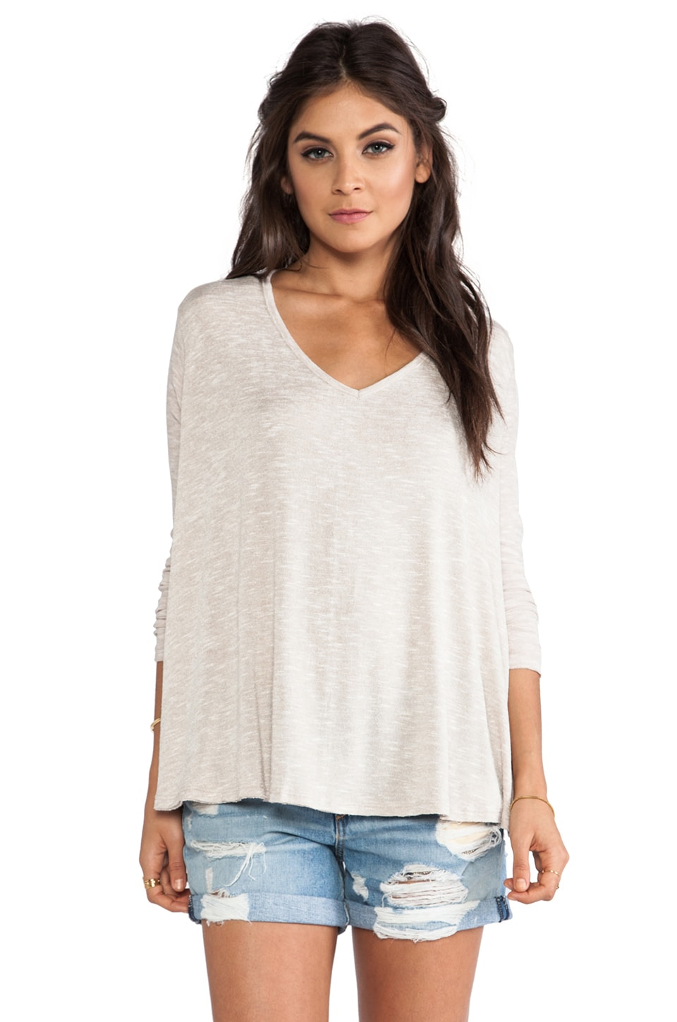Free People Sunday Tee in Oatmeal