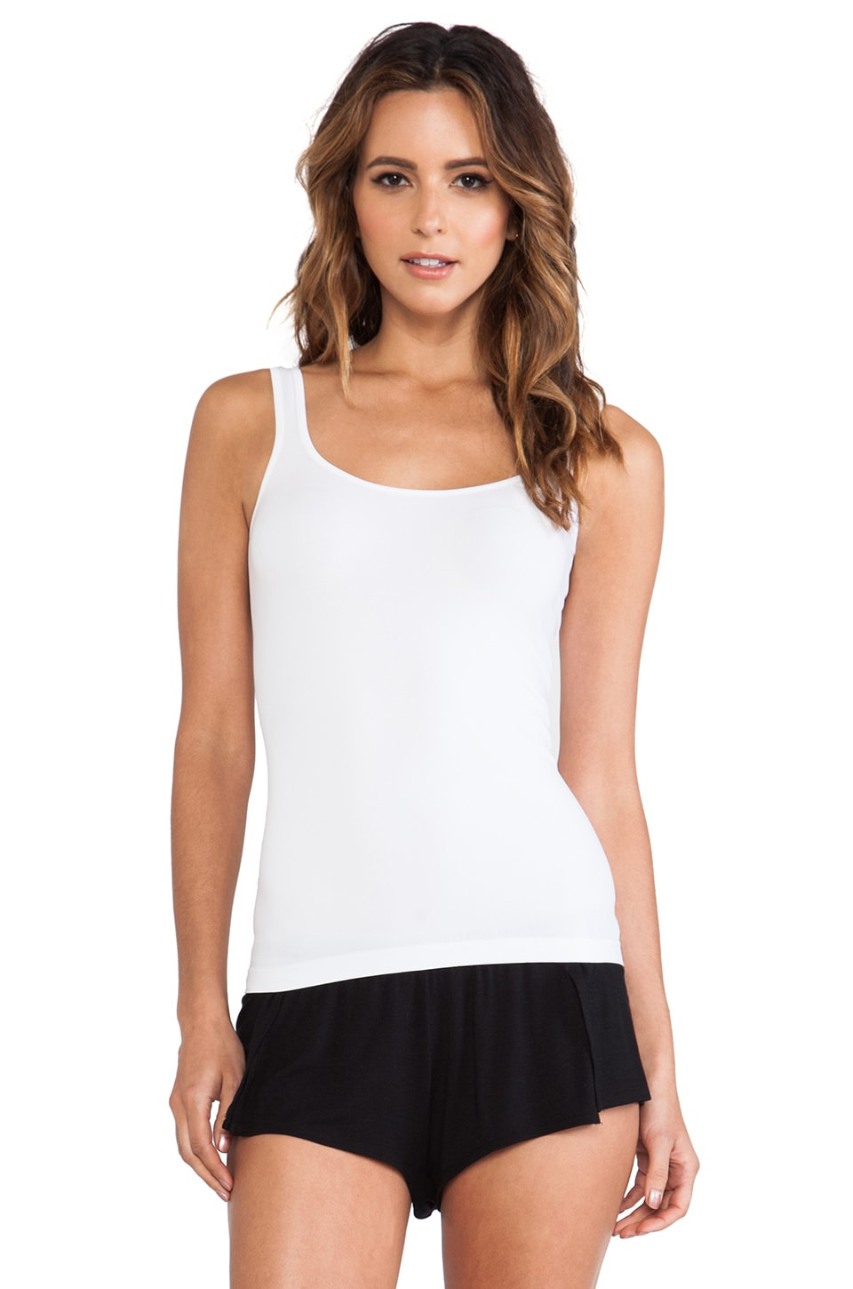 Free People Seamless Scoop Tank in White