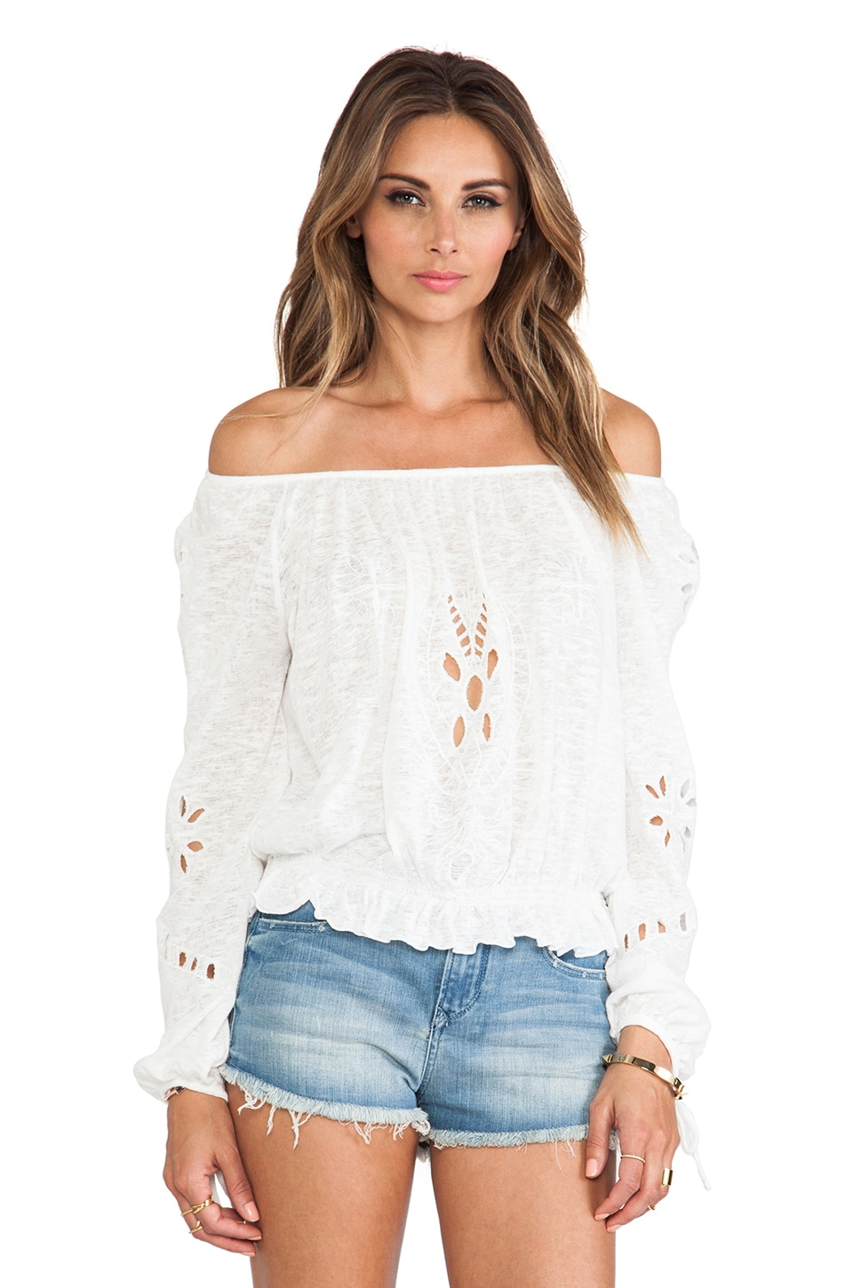 Free People FPX Jewel Top in Alabaster