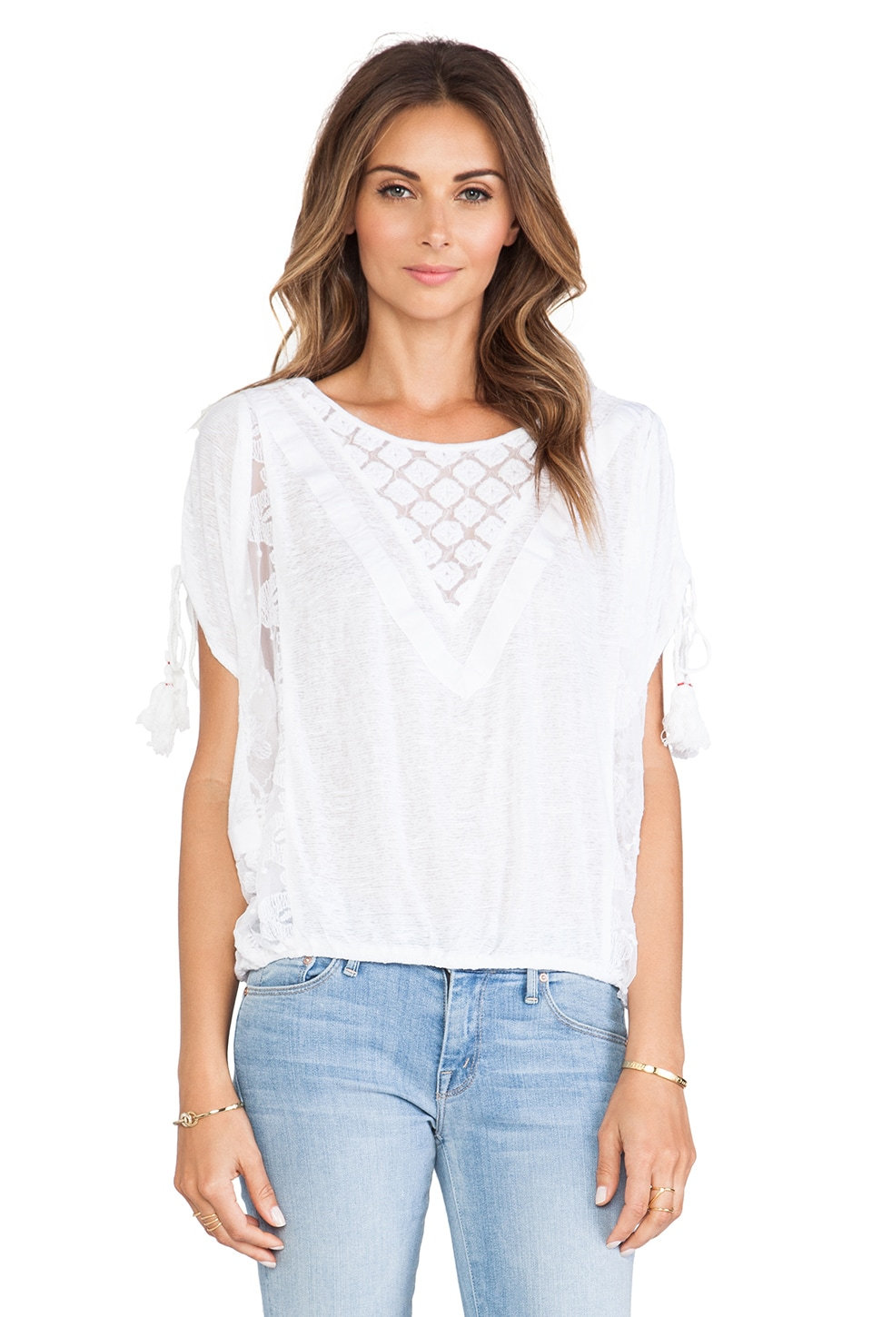 Free People South of the Equator Top in White