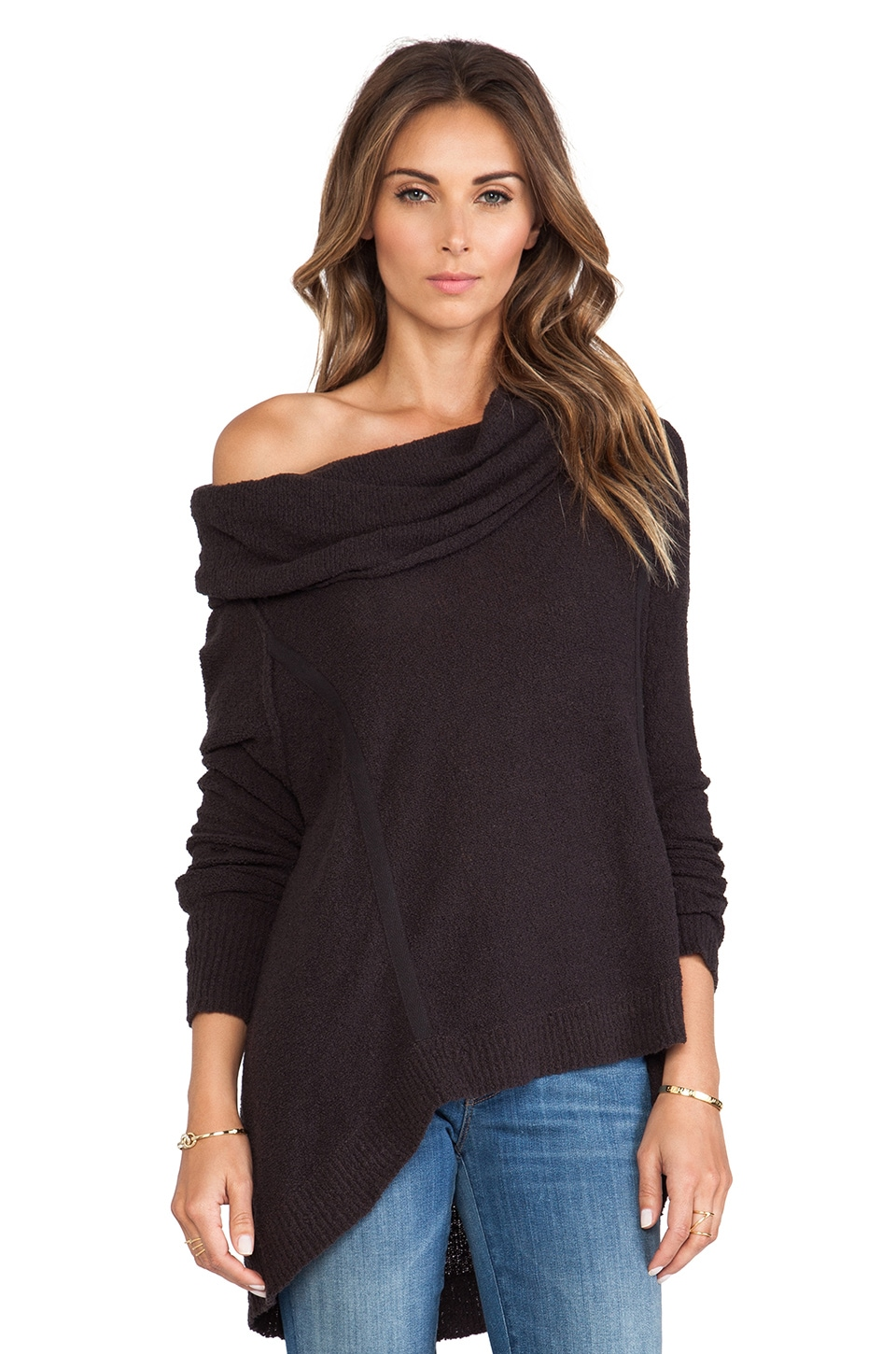 Free People Pebble Cowl Top in Black