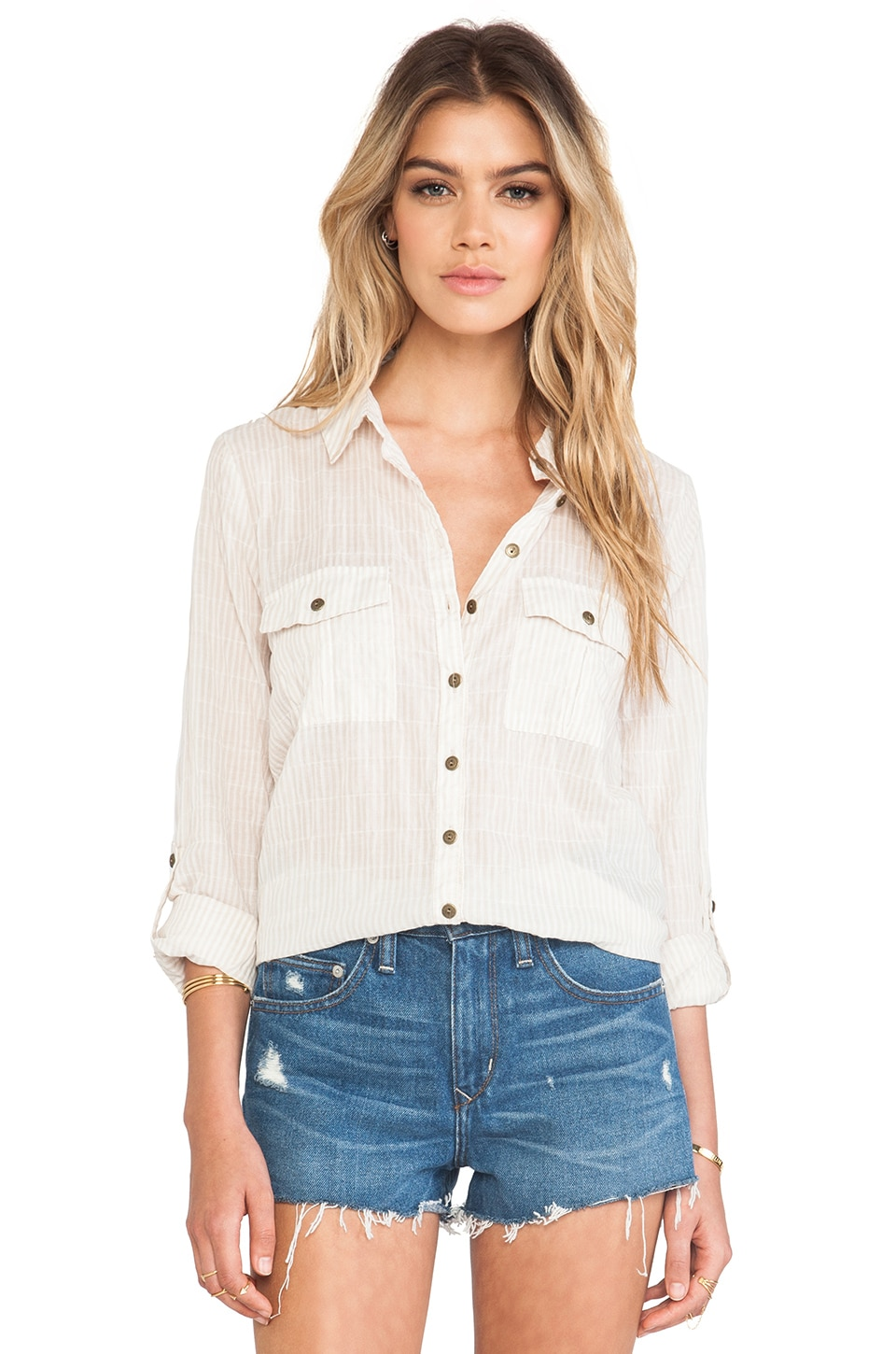 Free People Party in the Back Top in Stone Combo