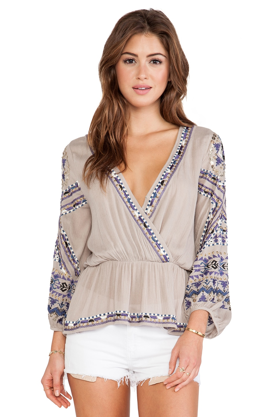 Free People Stitch Up Your Heart Top in Stone
