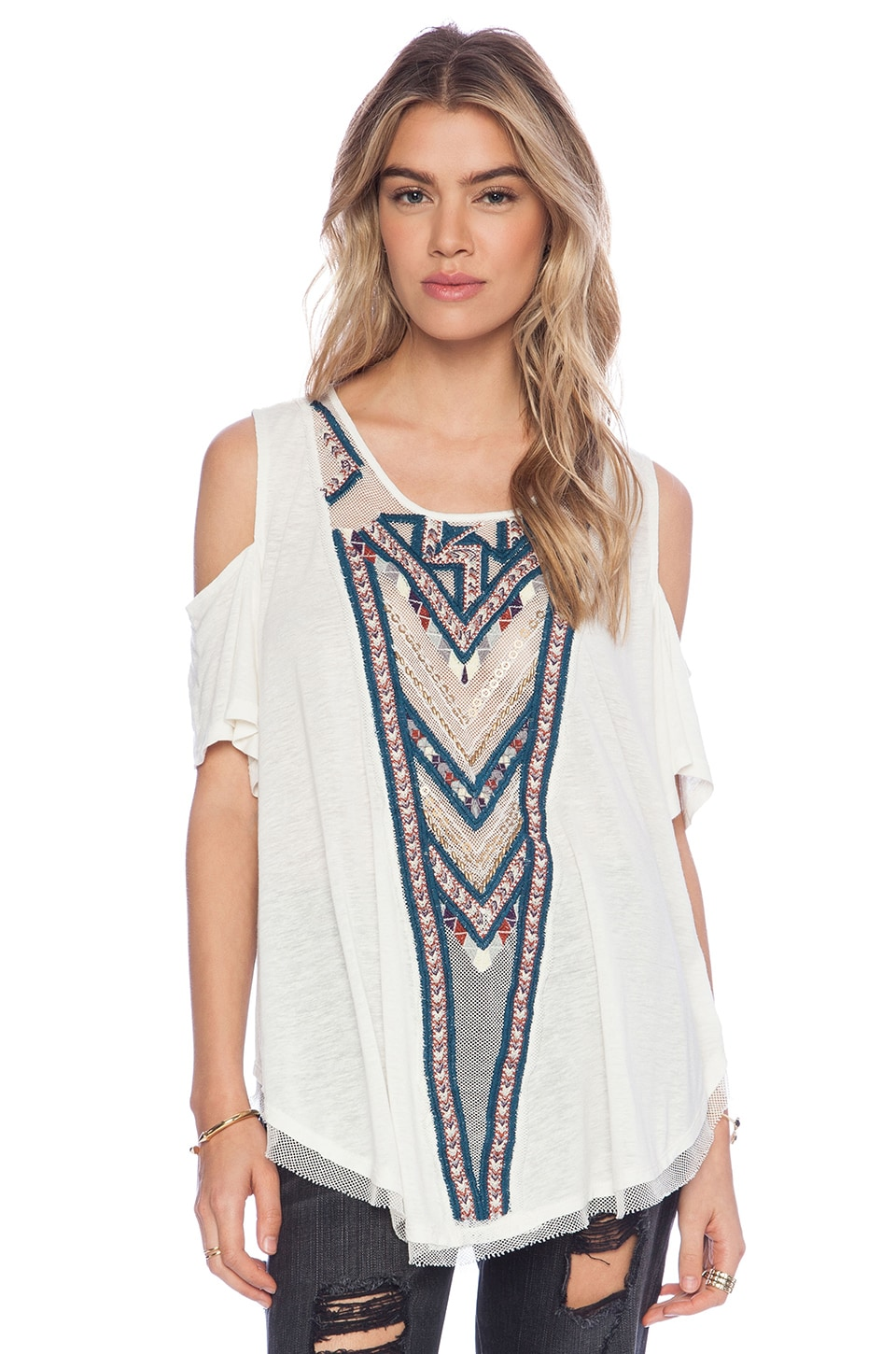 Free People Gypsy Spell Top in Ivory