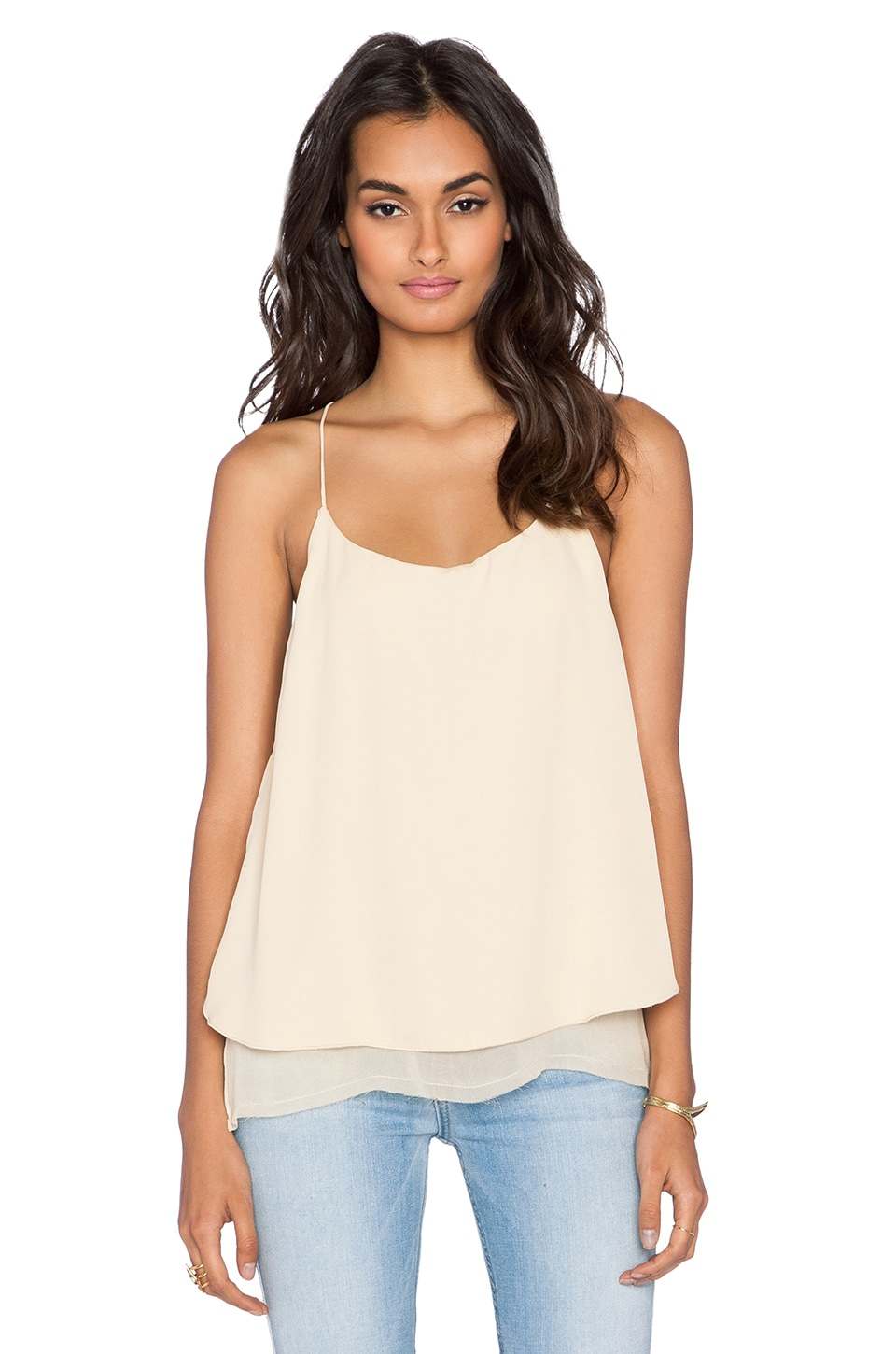 Free People Two Times The Fun Tank in Peach