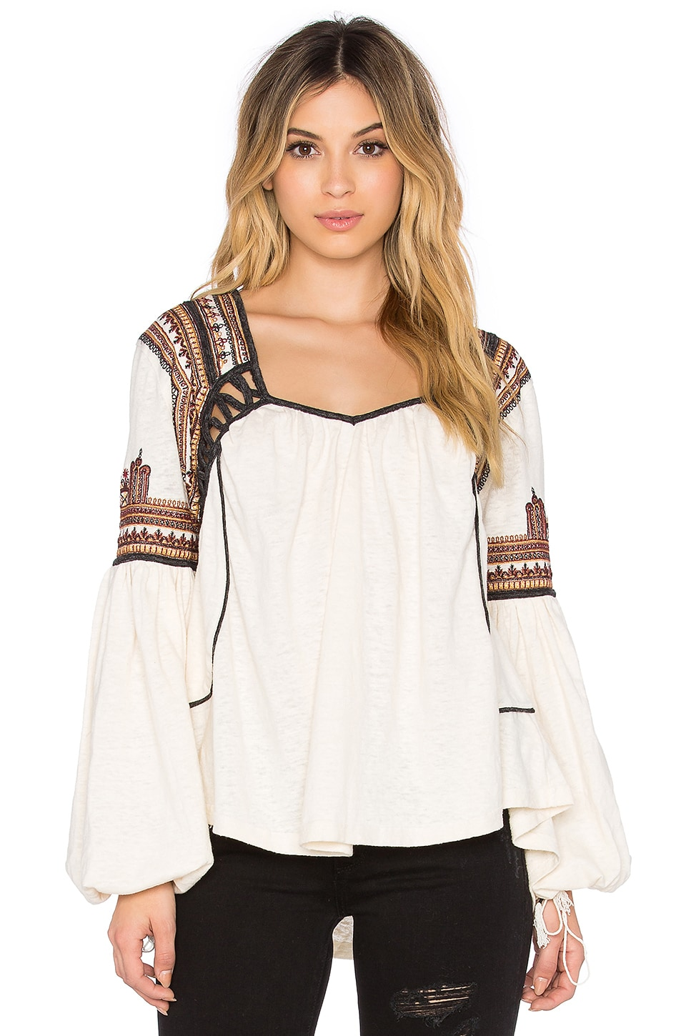 Free People Snow Kisses Blouse in Cream