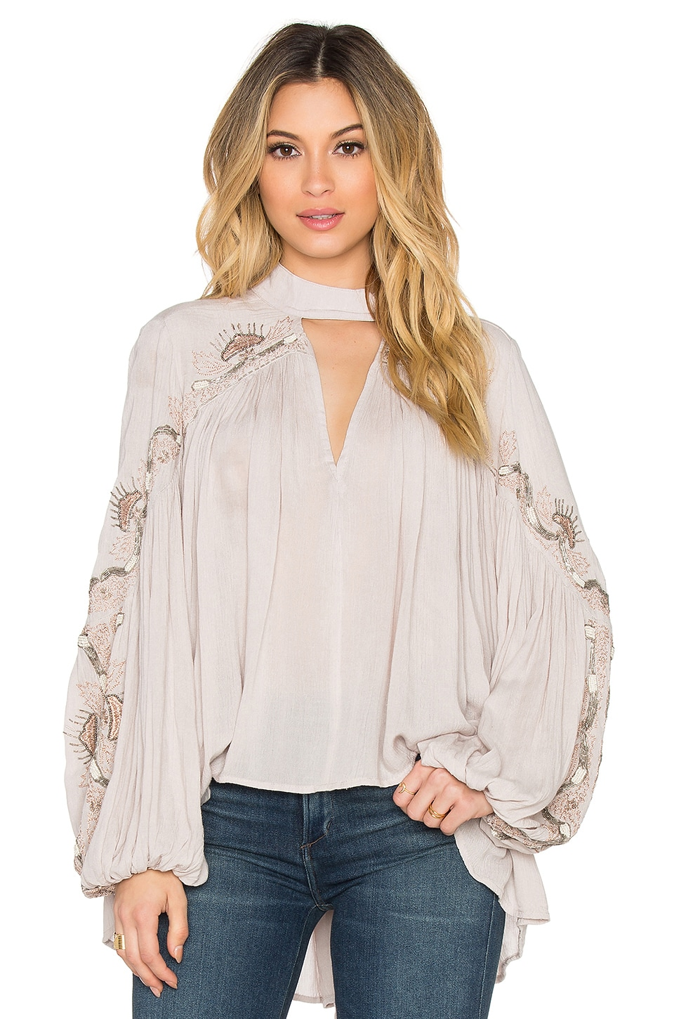 Free People Sweet Fantasy Blouse in Champagne