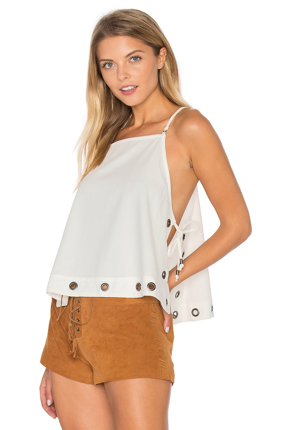 Free People City Fever Top in Ivory