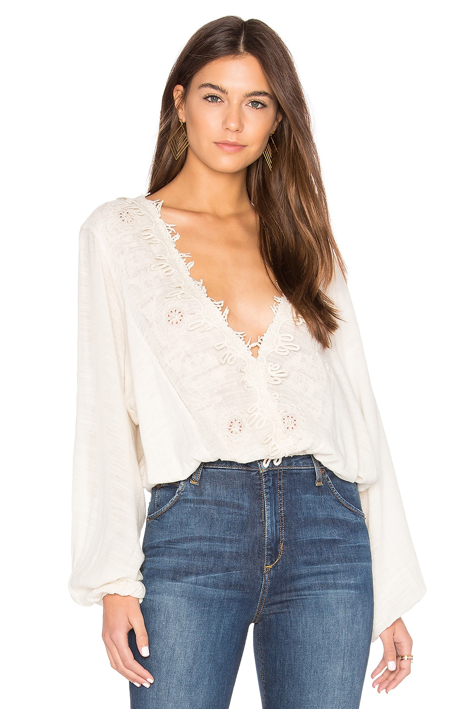 Free People Desert Sands Top en Ivoire