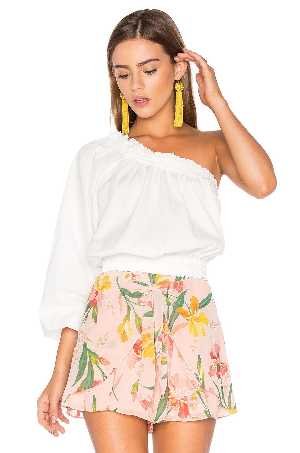 Free People Anabelle Asymmetrical Top in Ivory