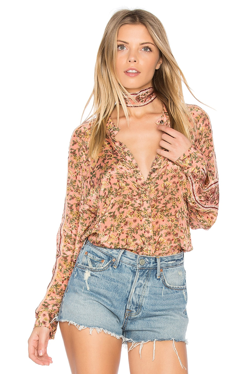 Free People Skyway Drive-In Top in Rose