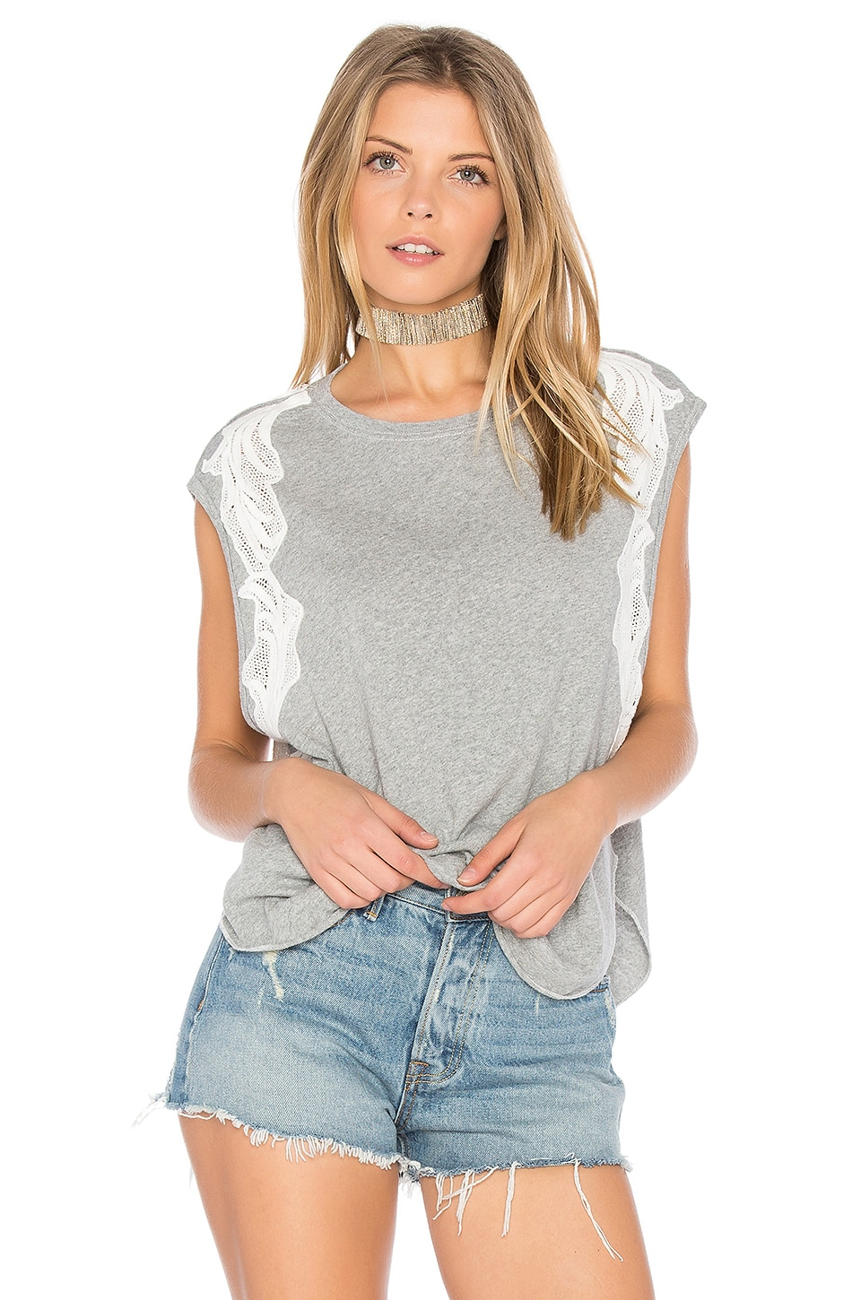 Free People Bonsai Tee in Grey