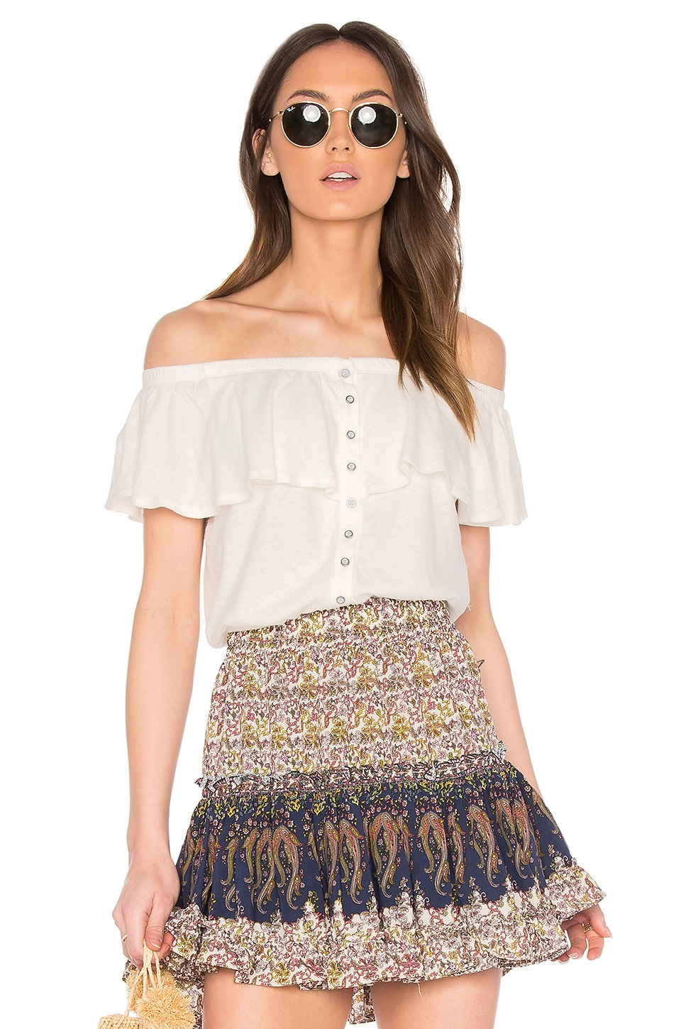 Free People Love Letter Tube Top in Ivory