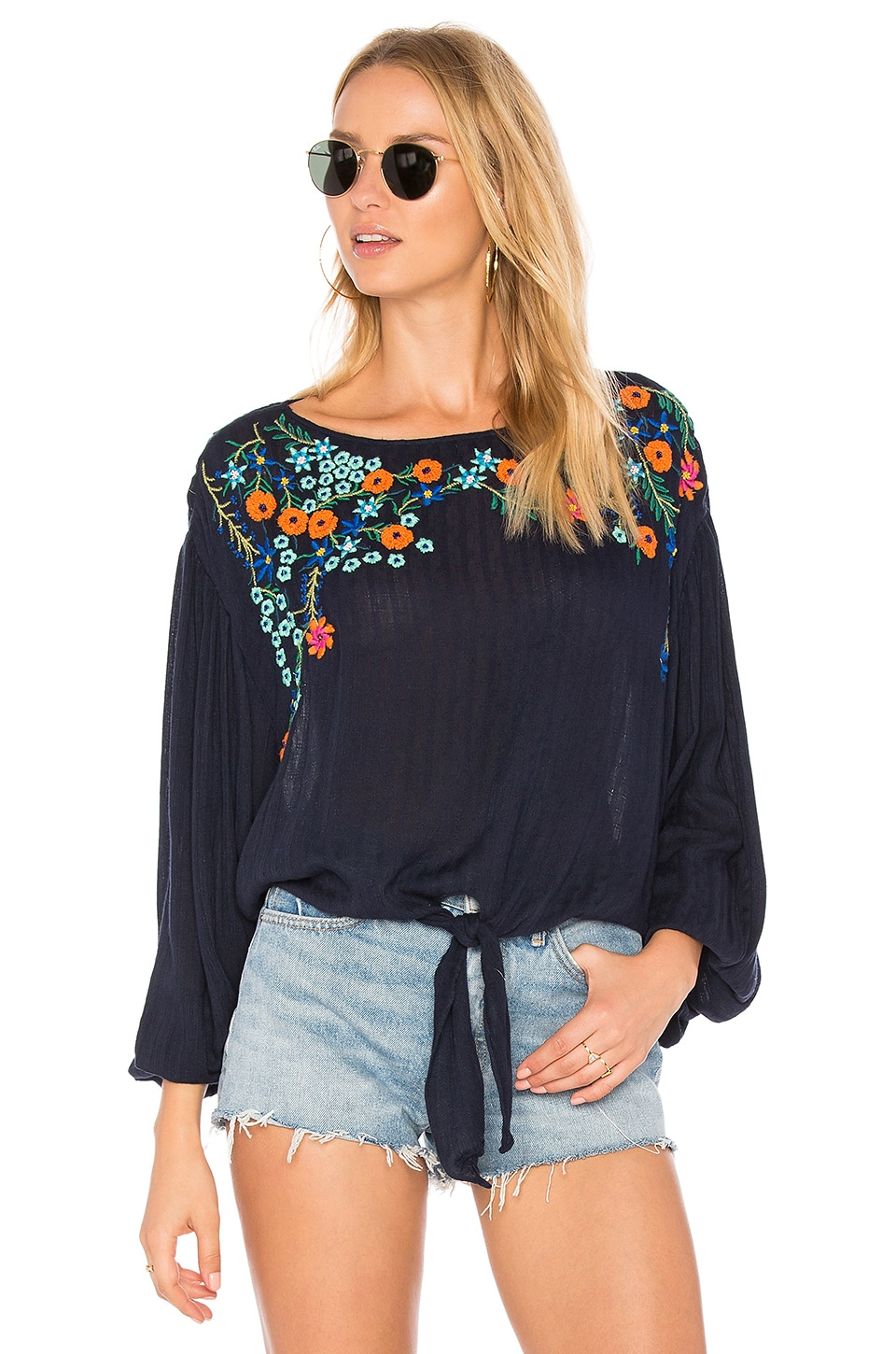 Up And Away Embroidered Top by Free People