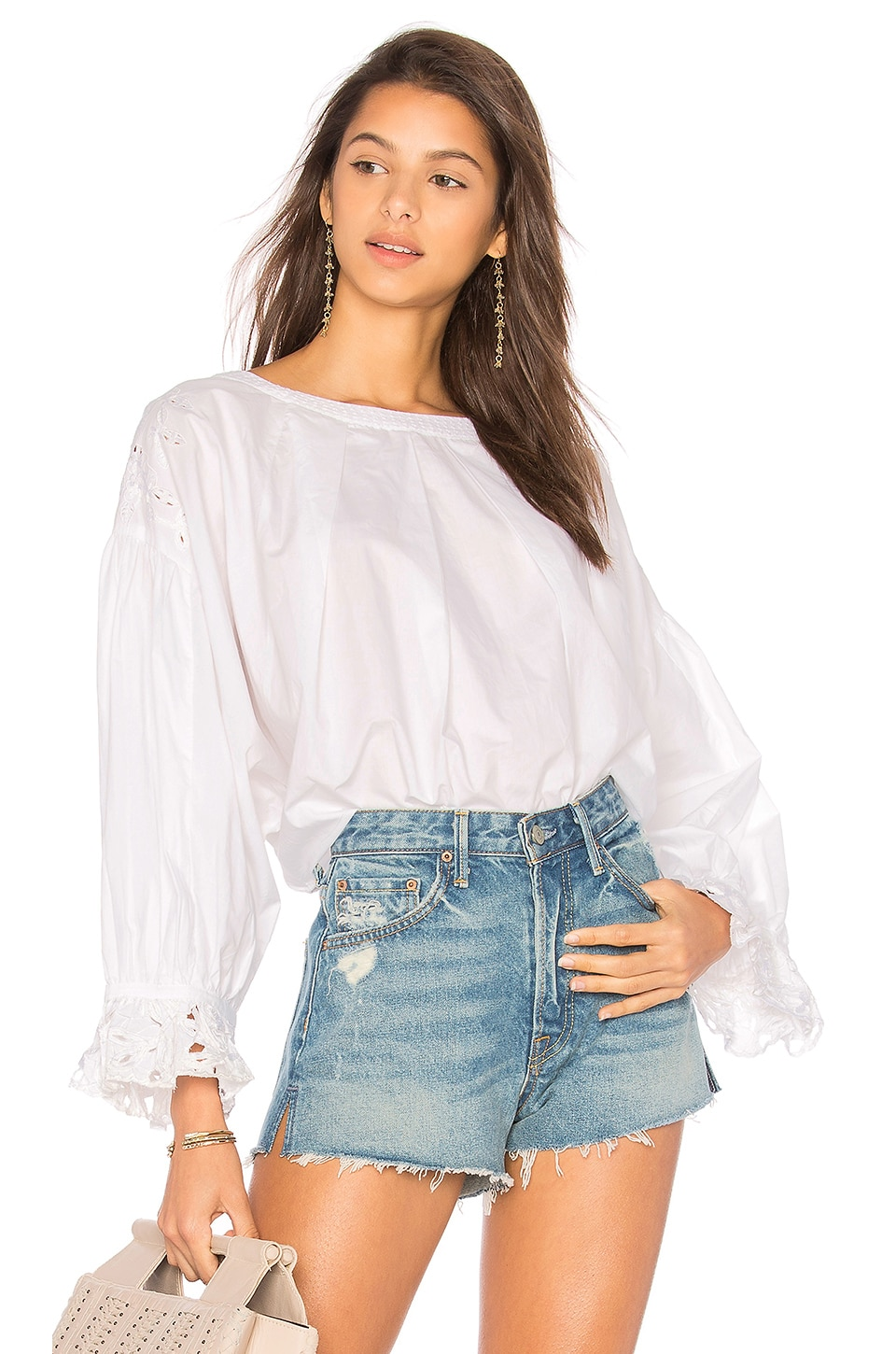 Free People Wishing Well Blouse in White
