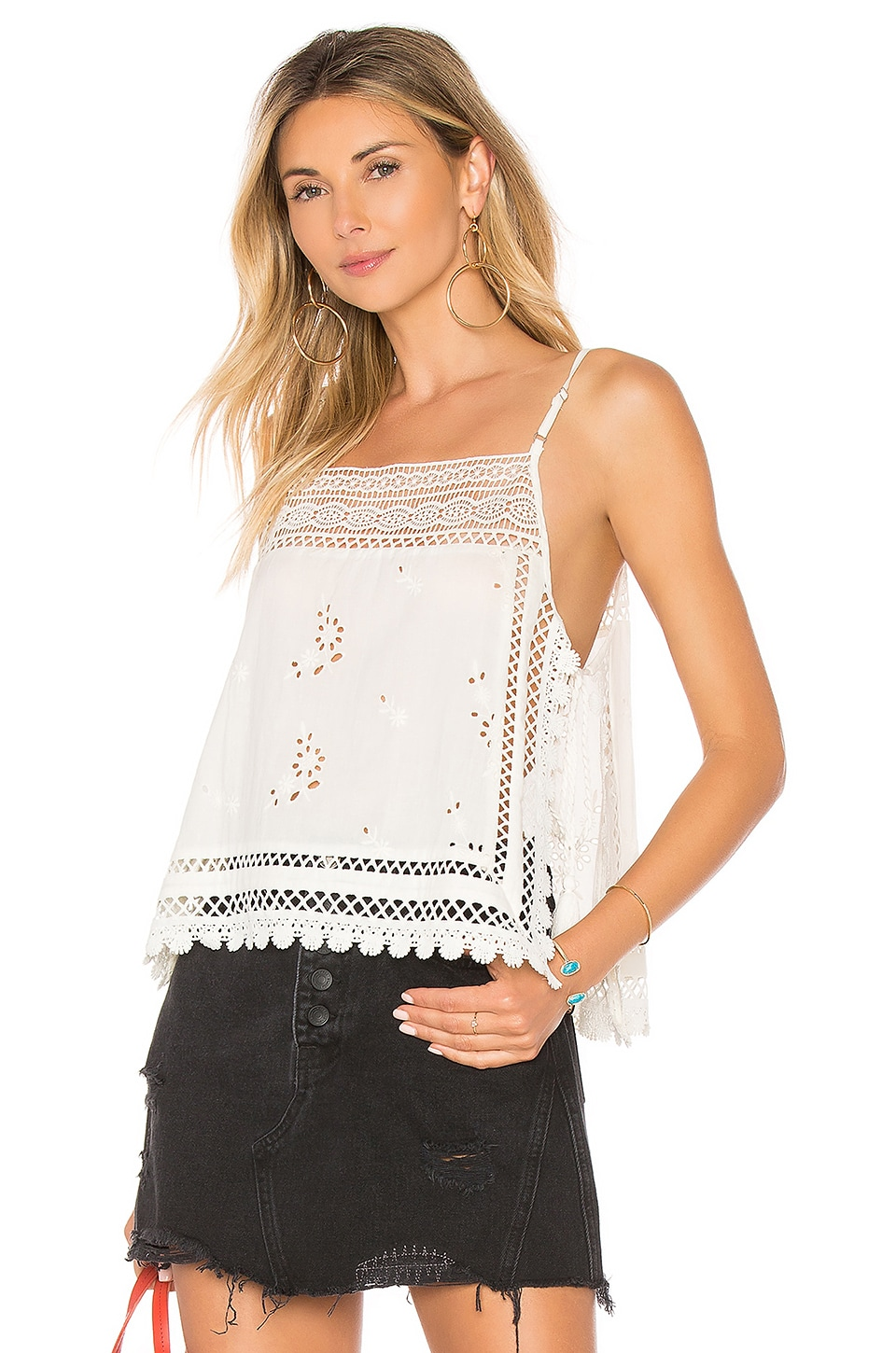 Garden Party Cami in White. - size M (also in L,S,XS) Free People