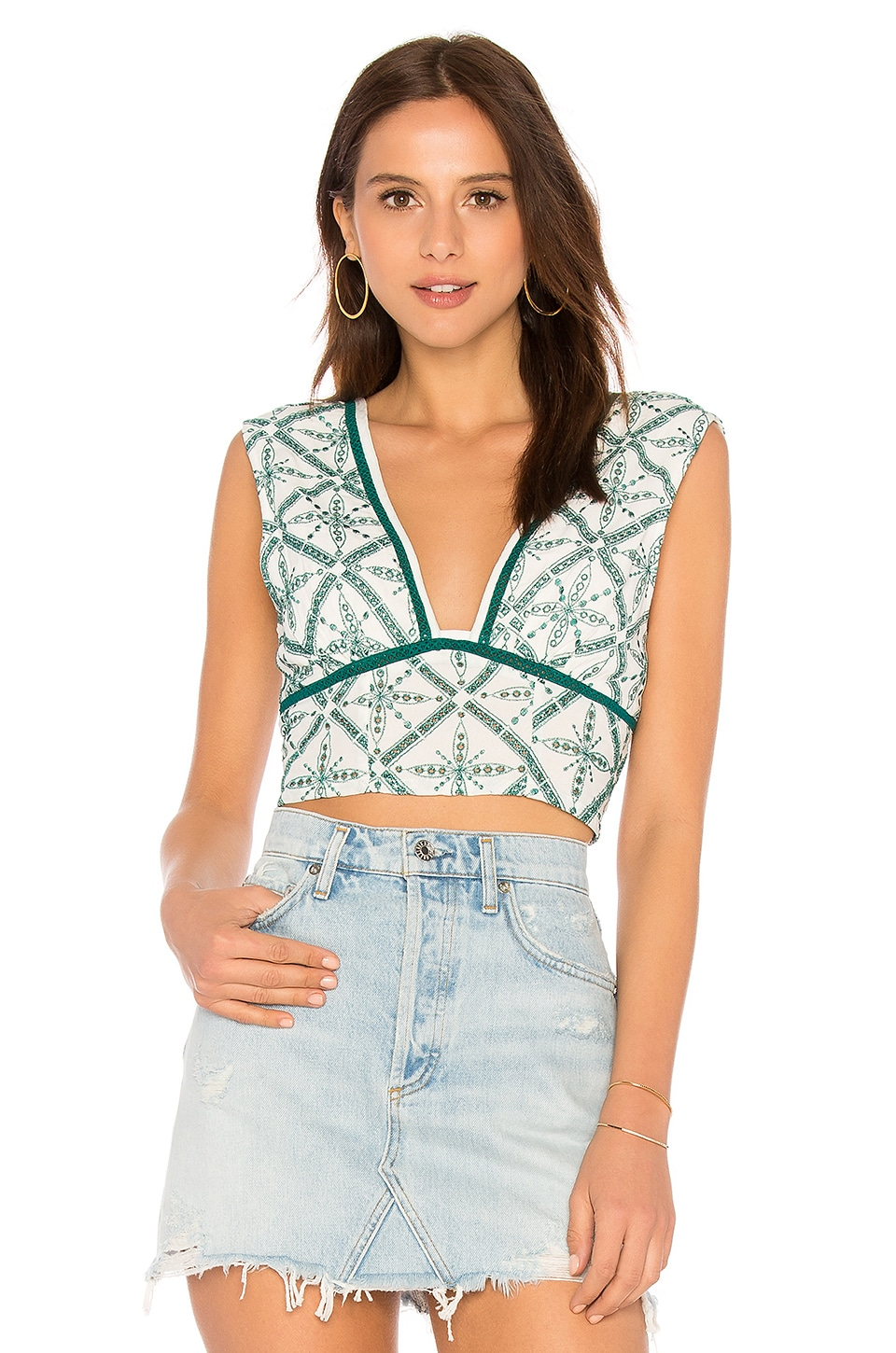 Free People Tell Me About It Top in Ivory