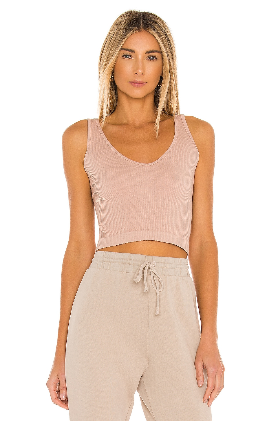 Free People Solid Rib Brami in Nude