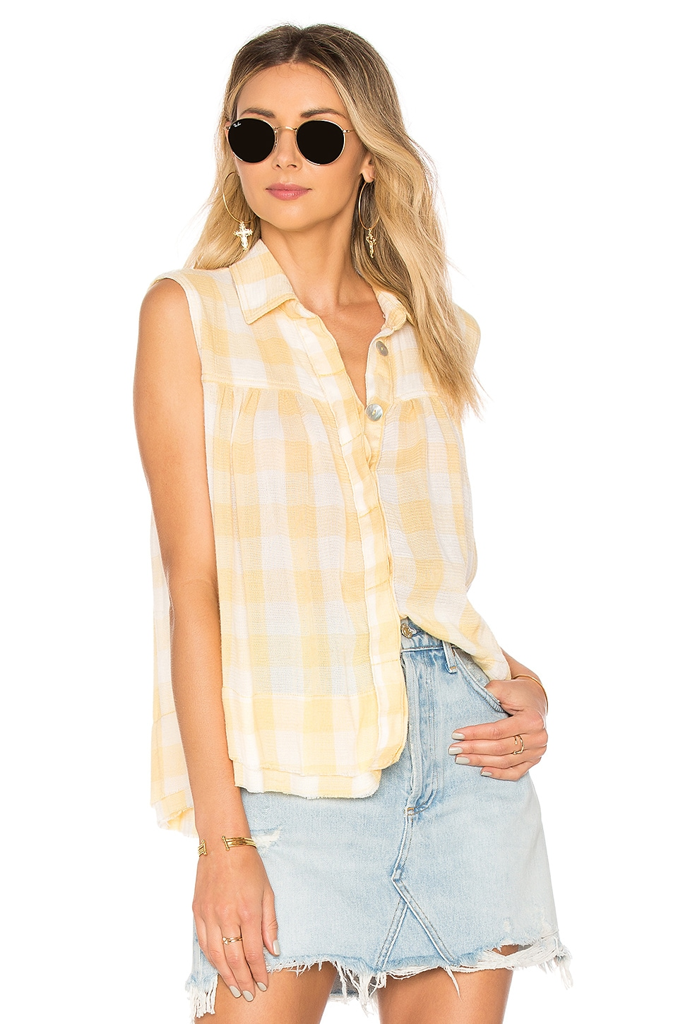 HEY THERE SUNRISE BUTTON FRONT SHIRT