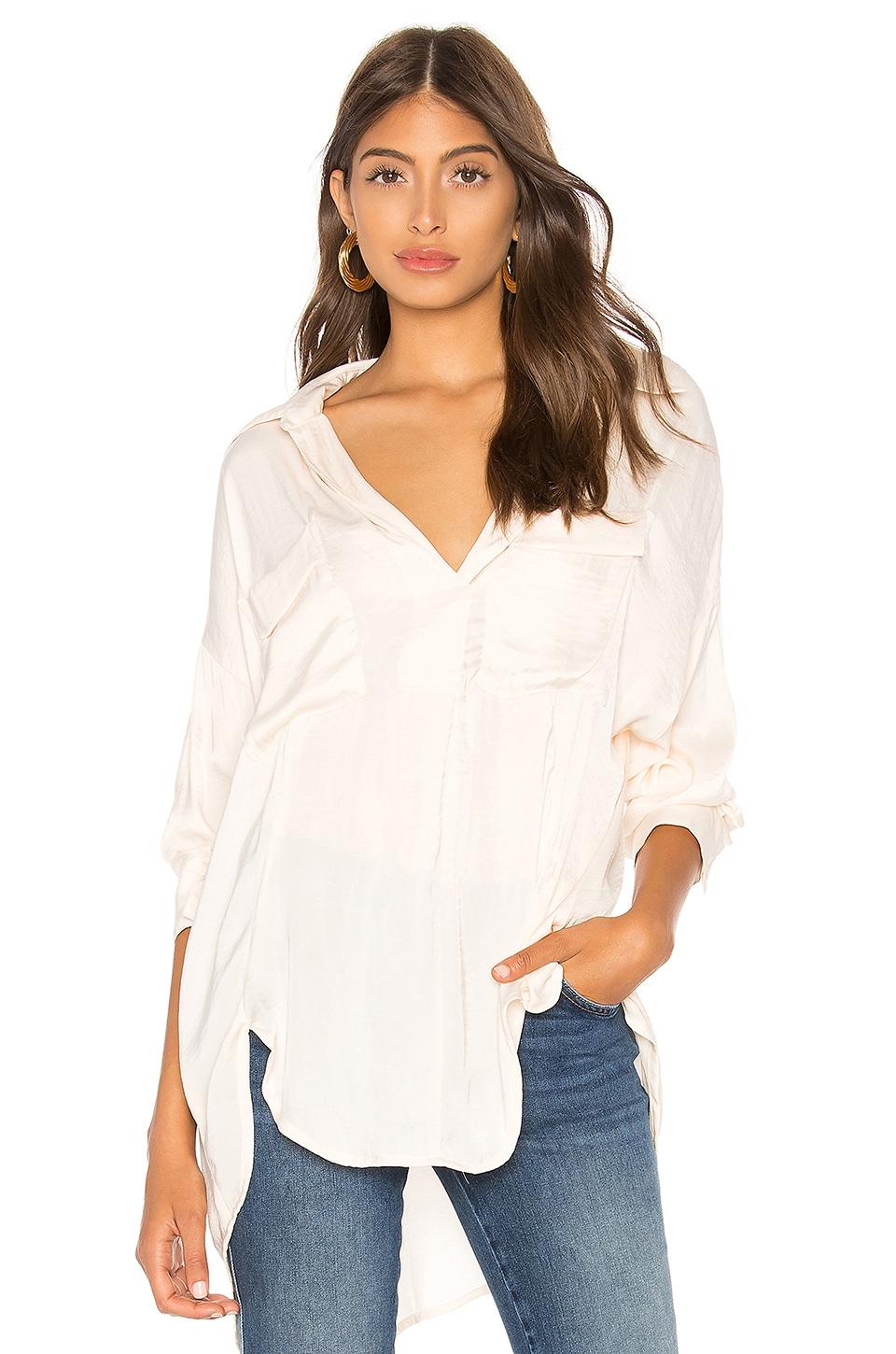 Free People Starry Dreams Pullover in Ivory