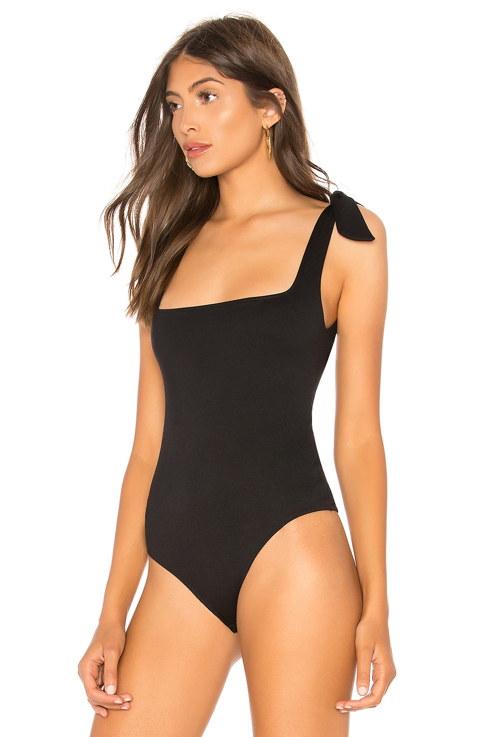 Tie Shoulder Bodysuit, view 3, click to view large image.