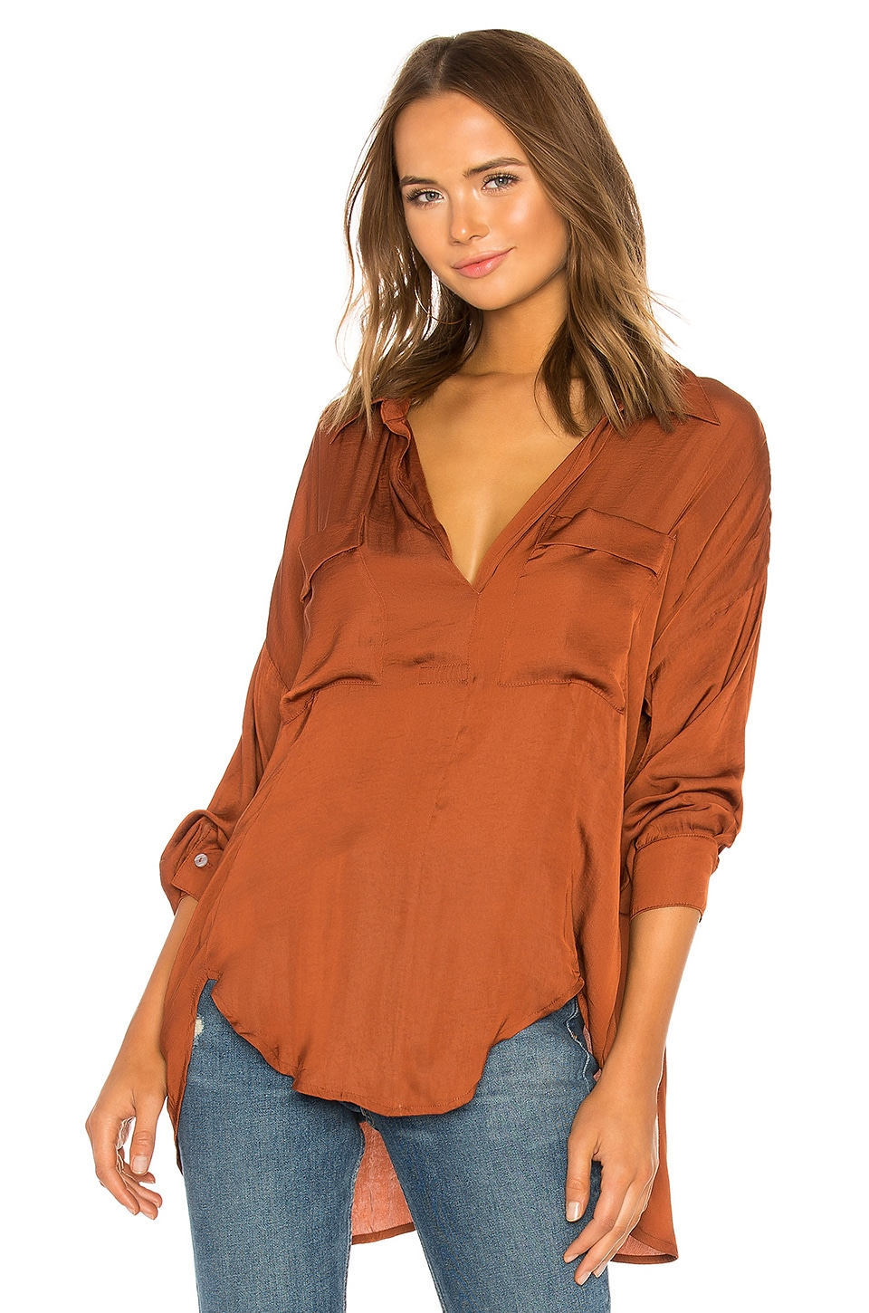 Free People Starry Dreams Pullover in Brown