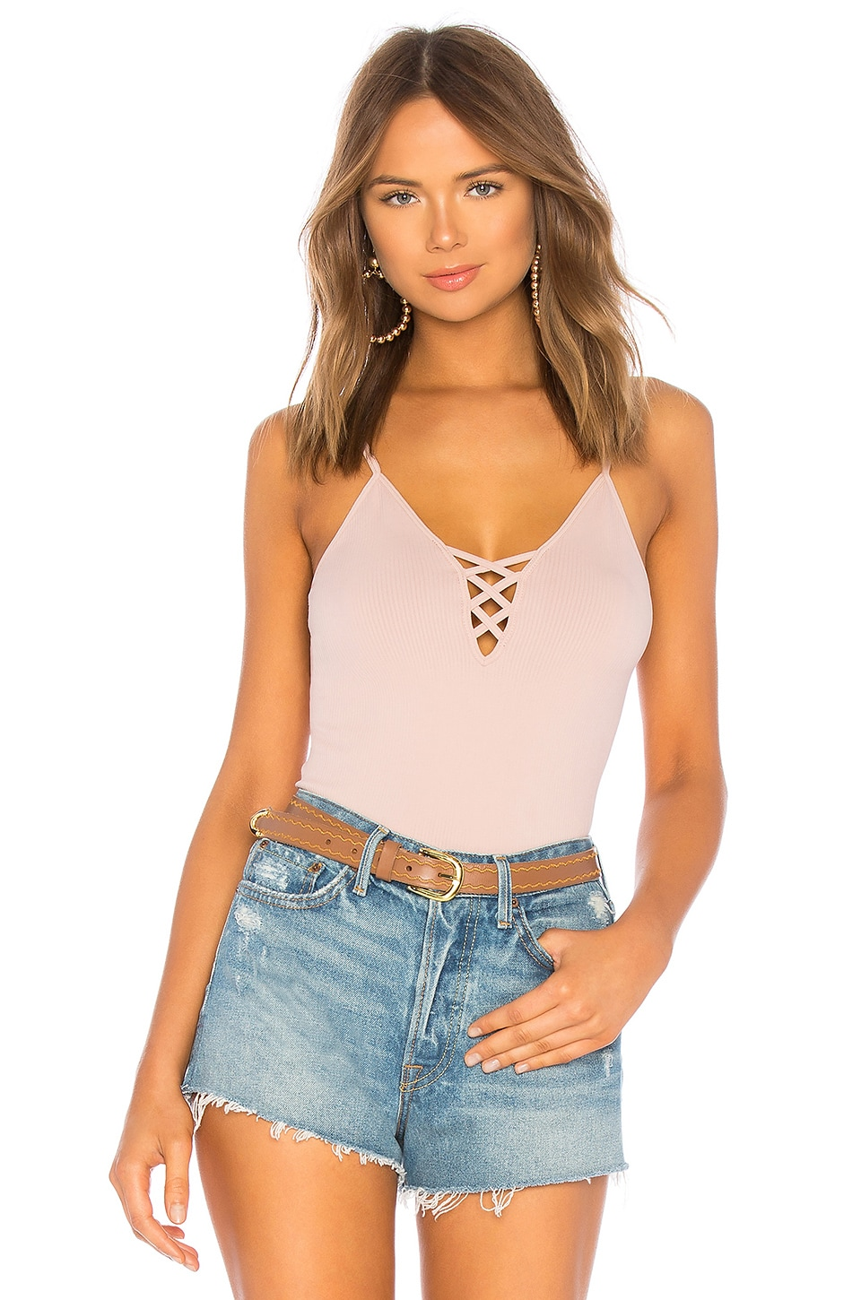Free People Crossfire Seamless Cami in Rose