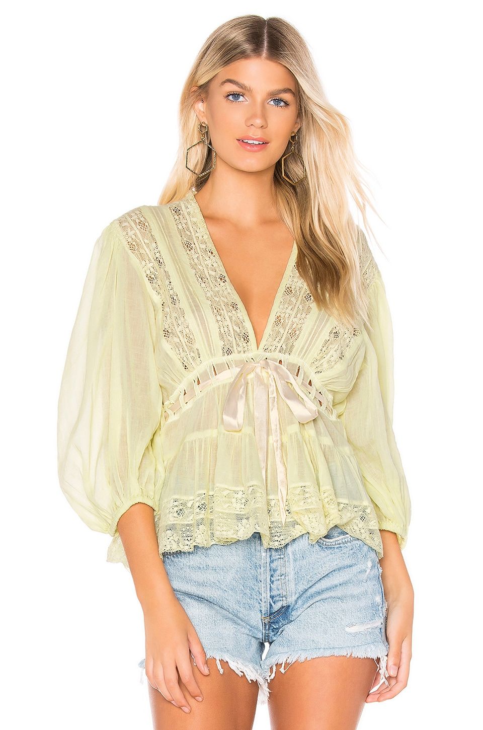 ddac7725099 Free People Favorite Romance Tunic in Yellow | REVOLVE