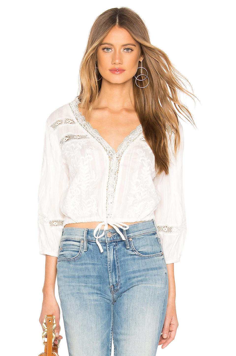 Free People Follow Your Heart Top en Ivory