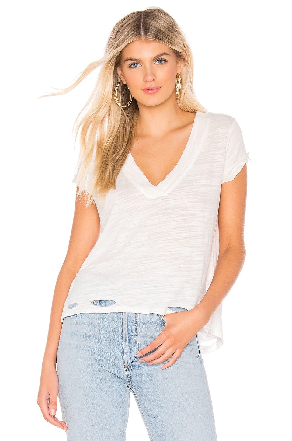 Free People Sundance Tee in Ivory