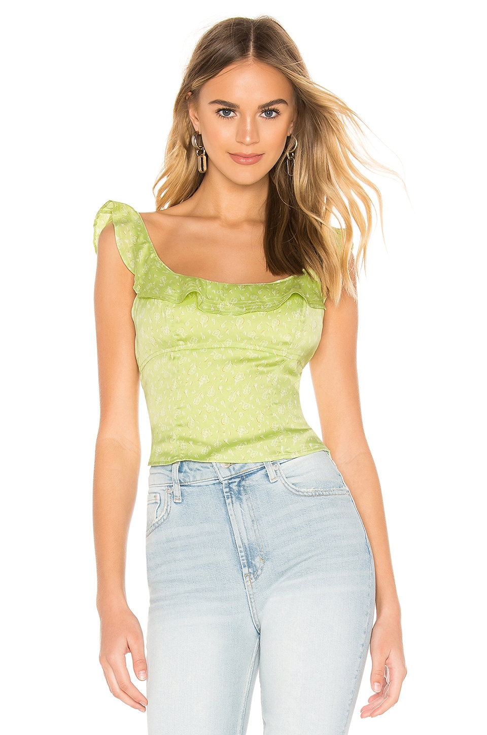 Free People Stay With You Top en Lime