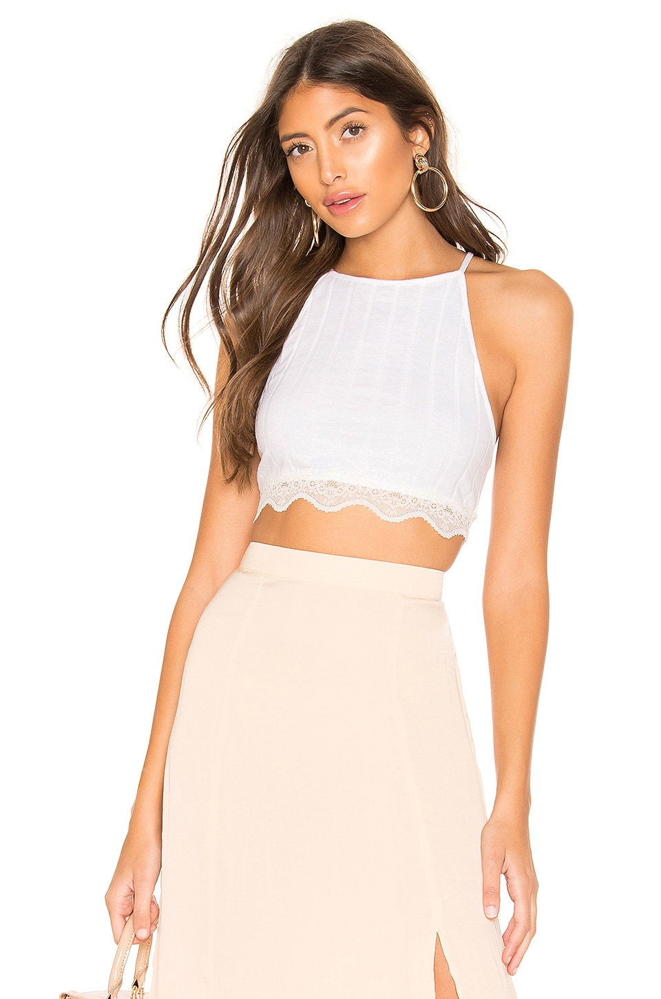 Free People All Your Love Crop Top in Ivory