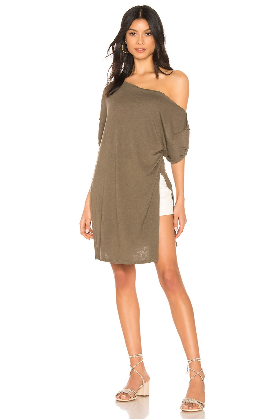 Free People Take It Easy Tee in Army