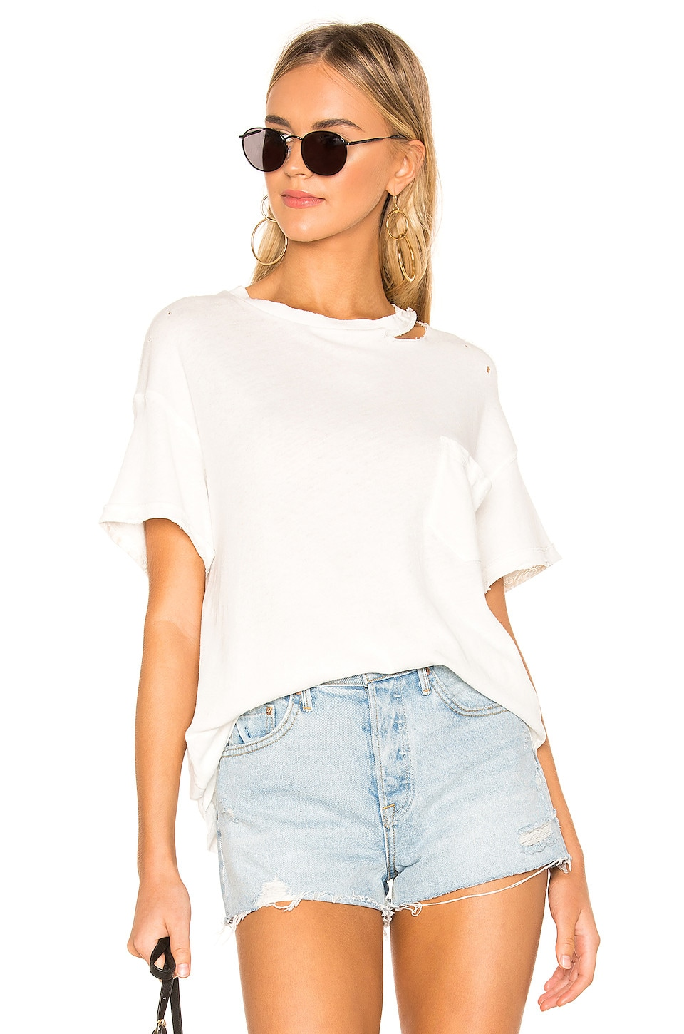 Free People Lucky Tee in Ivory