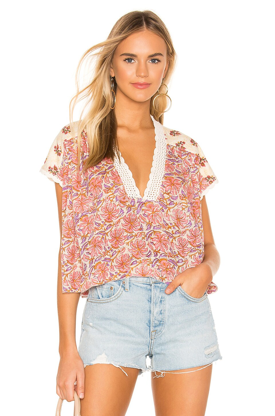Free People Leilani Blouse in Ivory