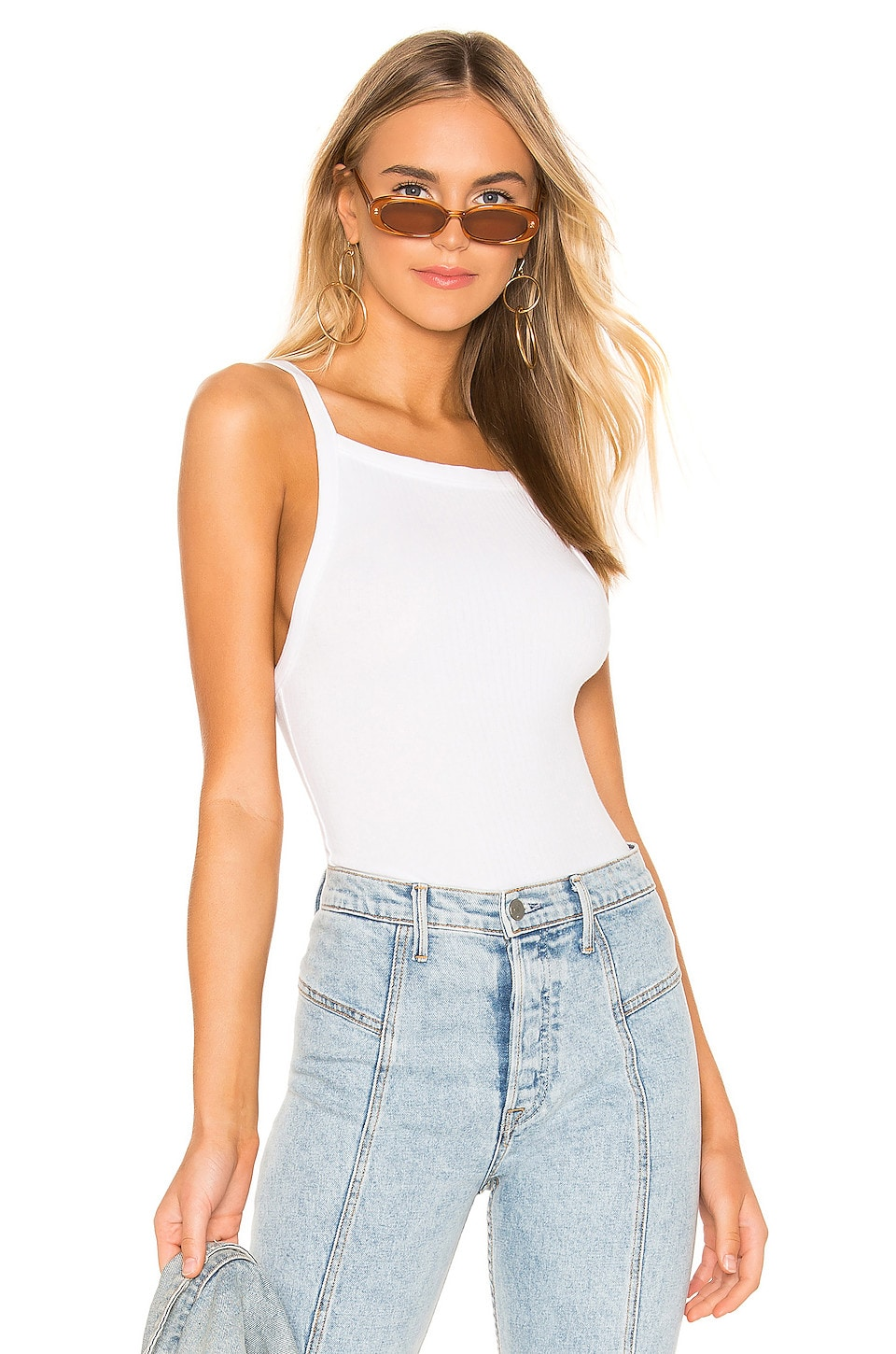 Free People Tops FREE PEOPLE SET UP TANK IN WHITE.