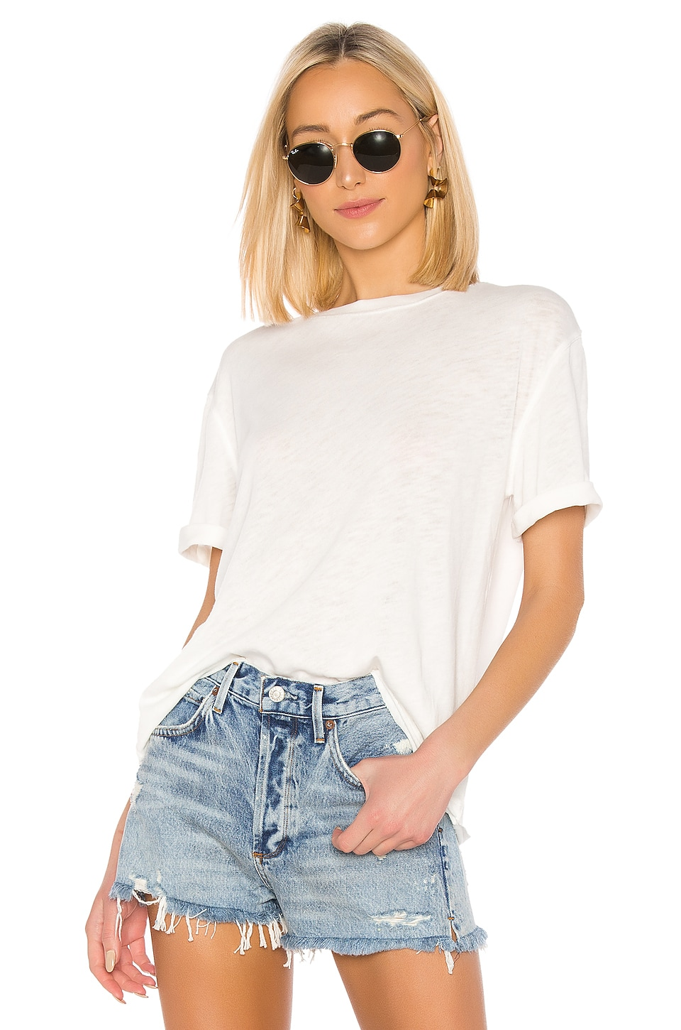 Free People Cassidy Tee in Ivory