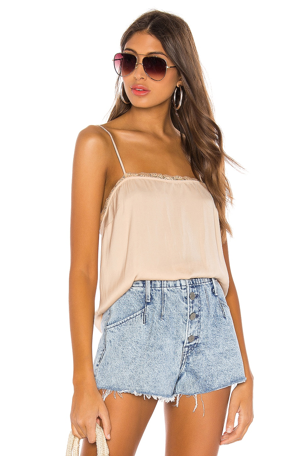Free People Beyond Me Cami in Sand