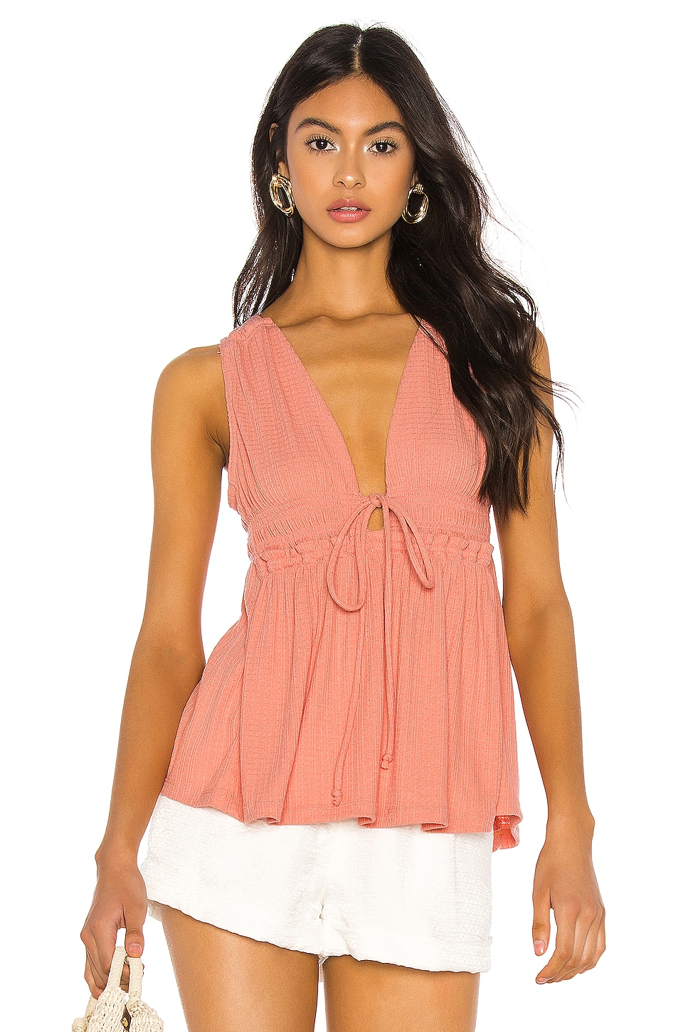 Free People Beach Bound Tank in Pink
