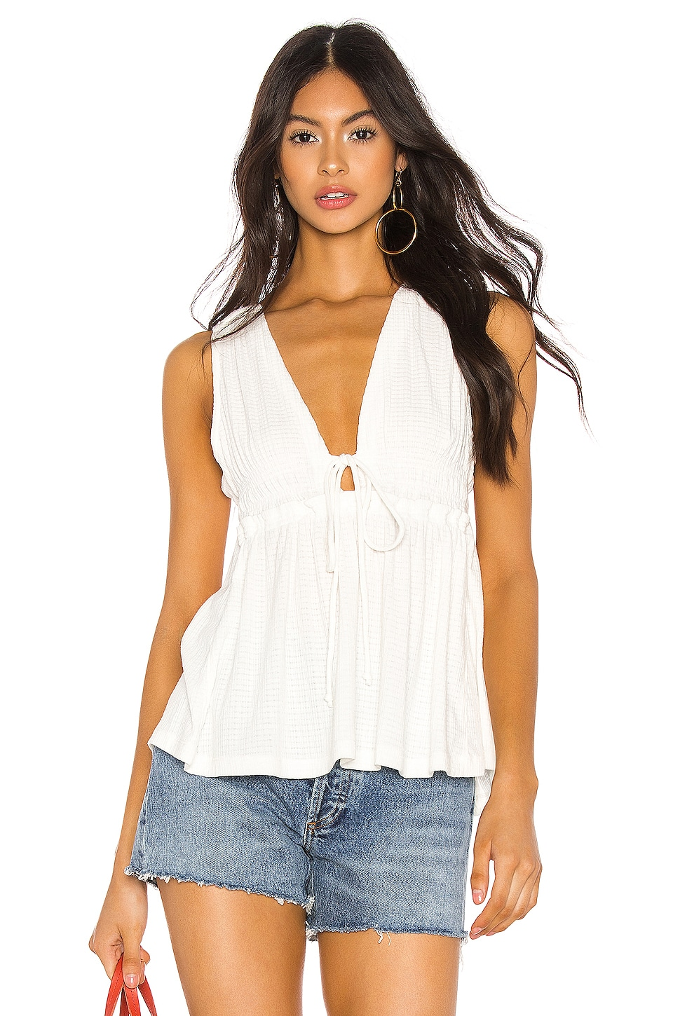 Free People Beach Bound Tank in Ivory