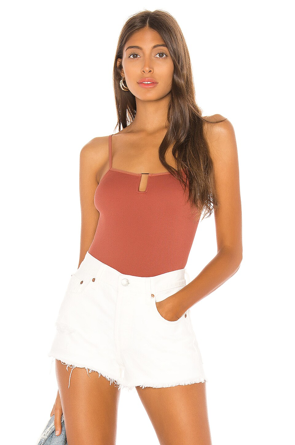 Free People Be My Baby Cami in Copper