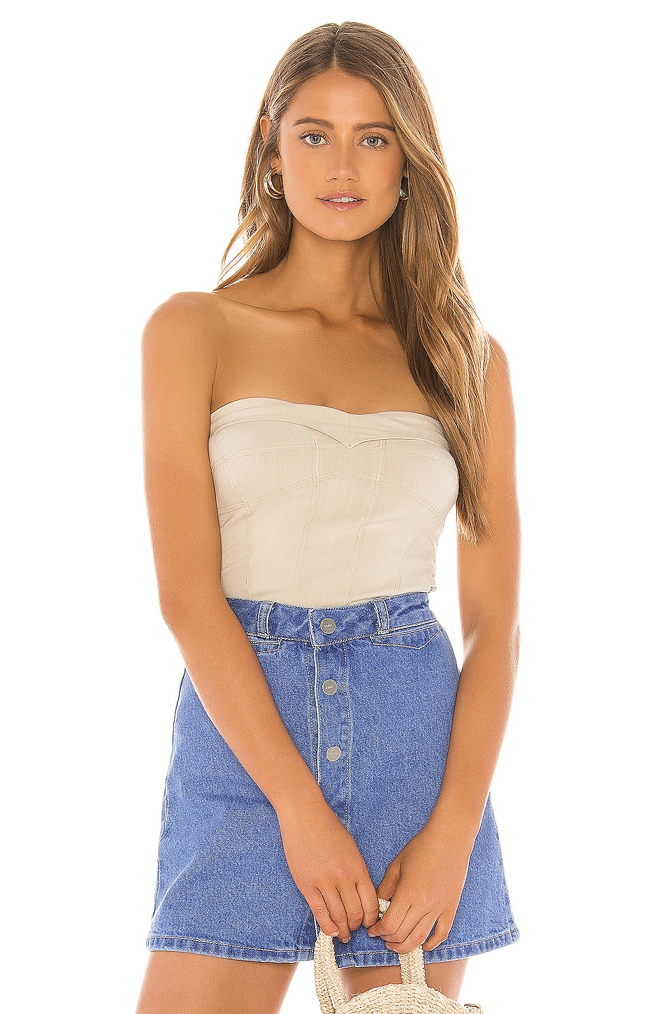 Free People You Too Tube Top in Ivory