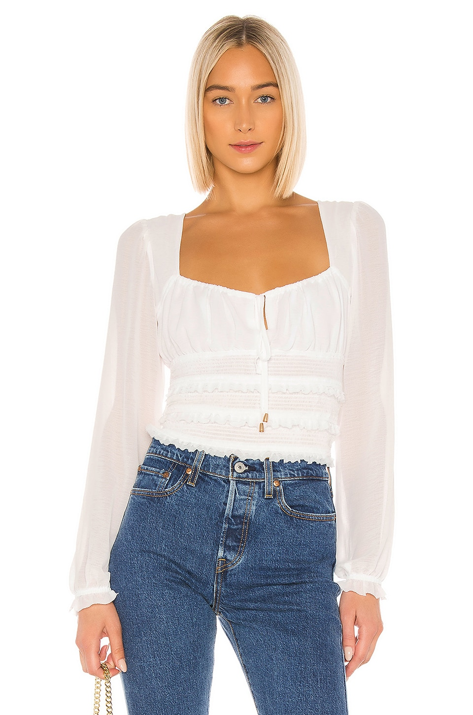 Free People Solid Lolita Blouse in White