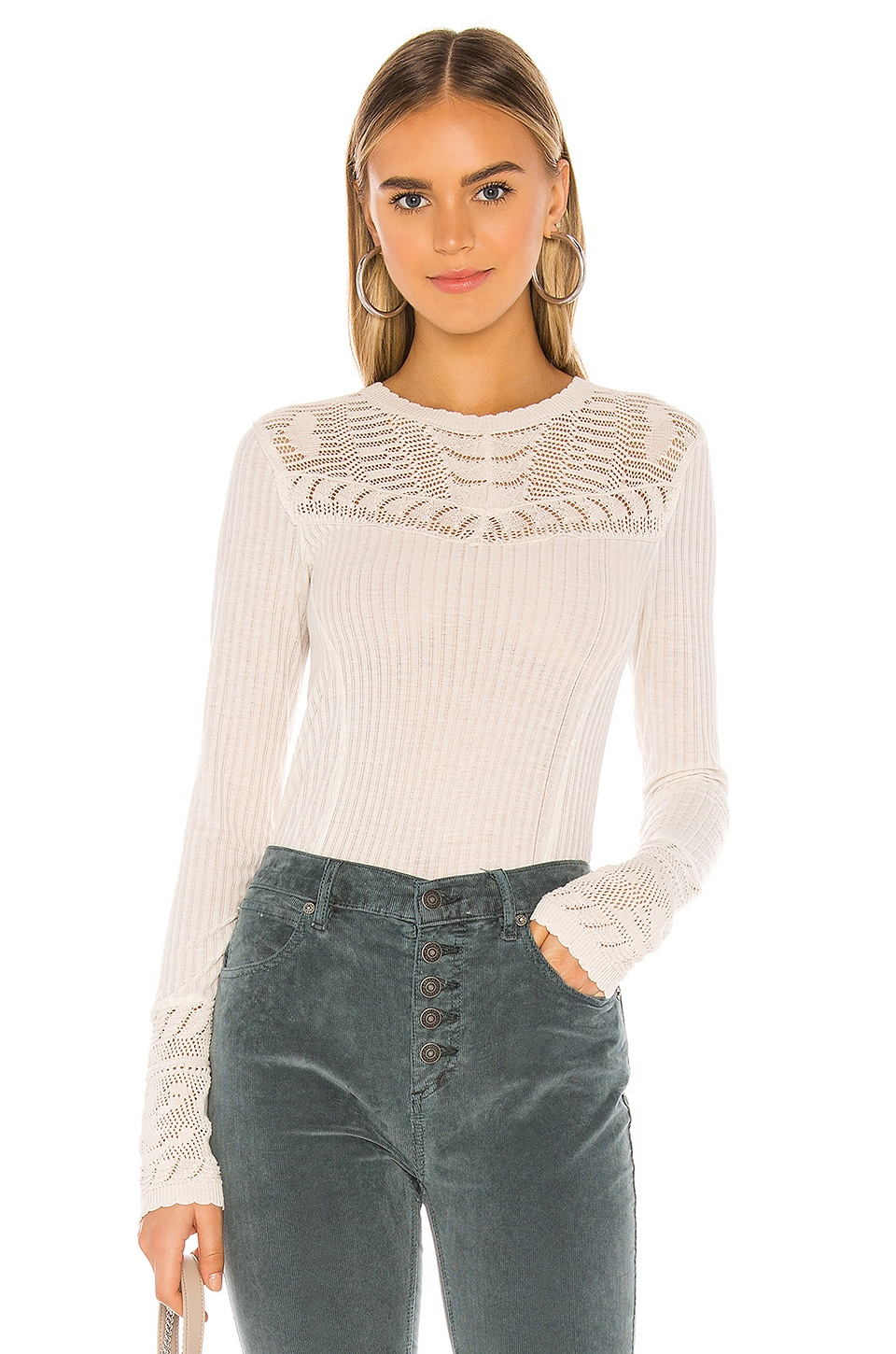 Free People Colette Long Sleeve in Neutral
