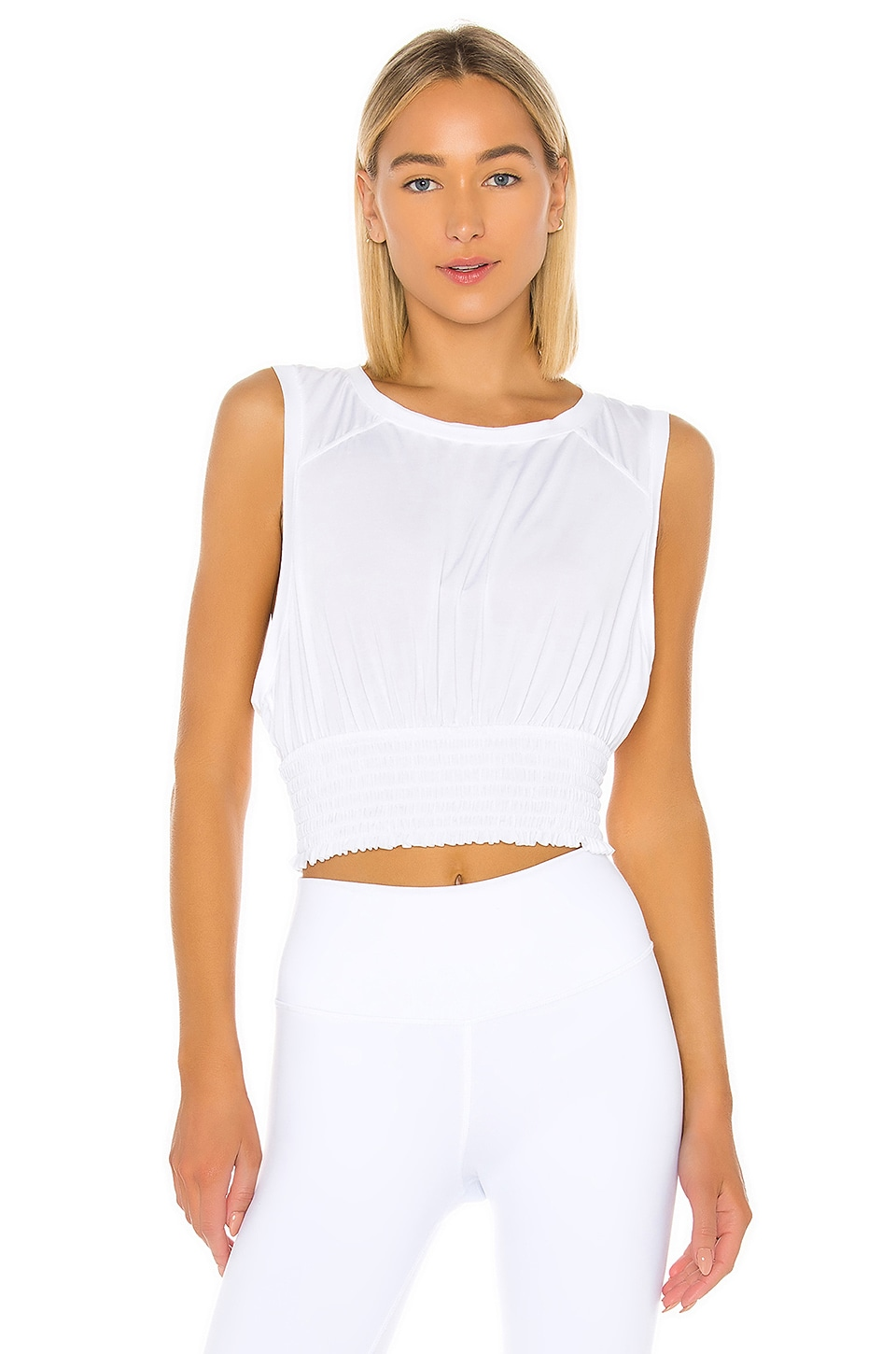 Free People X FP Movement Say My Name Smock Top in White